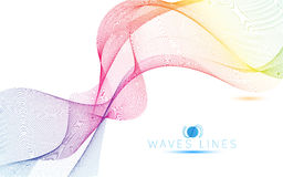 As ondas claras coloridas alinham a ilustração abstrata brilhante do teste padrão Foto de Stock Royalty Free