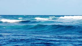 As ondas de oceano próximo suportam filme
