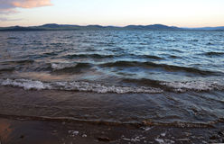 As ondas no lago Itkul 2 Imagem de Stock