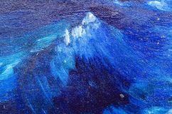 As ondas violentas, pintadas em uma lona Imagem de Stock