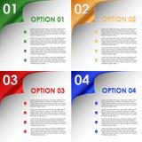 As opções da curvatura colorida encurralam o fundo Imagem de Stock Royalty Free