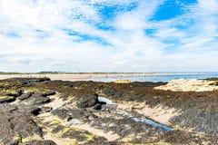As opiniões de Diferents do St Andrews encalham em sua baía, em seguida o fá Imagem de Stock Royalty Free
