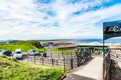 As opiniões de Diferents do St Andrews encalham em sua baía, em seguida o fá Fotos de Stock Royalty Free
