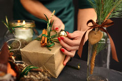 As originally packed gift for Christmas? Royalty Free Stock Photography