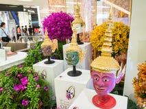 As orquídeas 2014 de Banguecoque do modelo Imagens de Stock