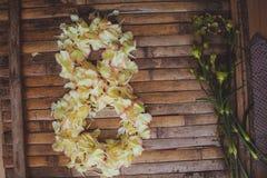 As pétalas florescem formulário o cartão do dia das mulheres do quadro do 8 de março Imagens de Stock