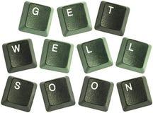 As palavras chaves de teclado começ bem logo Imagem de Stock