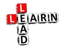 as palavras cruzadas 3D aprendem a ligação no fundo branco Imagem de Stock Royalty Free