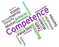 As palavras da competência representam o domínio e a capacidade da experiência ilustração stock