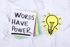 As palavras têm o poder Foto de Stock