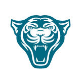 As panteras dirigem o logotipo para o clube ou a equipe de esporte Logotype animal da mascote molde Ilustração do vetor Imagem de Stock Royalty Free