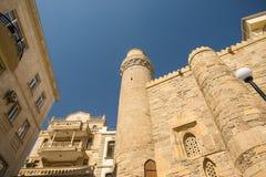 As paredes da cidade velha em Baku foto de stock
