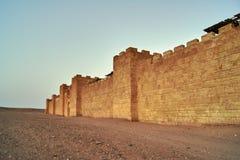 As paredes do Jerusalém medieval no estúdio cinematográfico do atlas fotografia de stock