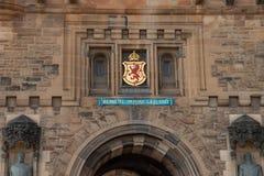 As paredes interiores de Edimburgo Catle foto de stock