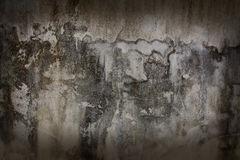 As paredes velhas com máscaras do marrom escuro Fotos de Stock Royalty Free