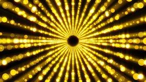 As partículas do ouro escavam um túnel a urdidura, movendo-se no espaço e no tempo, distorção do espaço, contexto do sumário da r ilustração stock