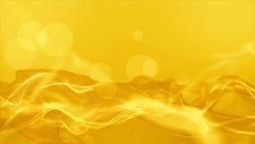 As partículas e o bokeh da cor do ouro de Digitas fazem sinal ao fundo abstrato video estoque