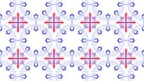 As partículas vermelhas e azuis estão voando lentamente em um fundo branco sum?rio animado 3d rendem filme