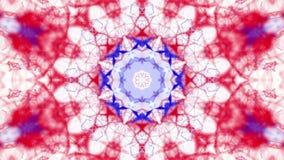 As partículas vermelhas e azuis estão voando lentamente em um fundo branco sum?rio animado 3d rendem vídeos de arquivo