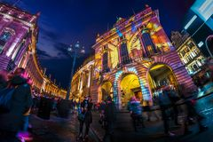 As part of Lumiere London royalty free stock photography