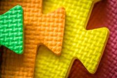 As partes coloridas da esteira fecham-se acima Fotografia de Stock Royalty Free
