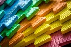 As partes coloridas da esteira fecham-se acima Imagens de Stock Royalty Free