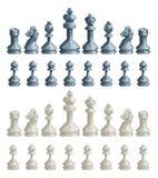 As partes de xadrez ajustaram o jogo de vídeo mordido 8 Art Icons do pixel ilustração do vetor
