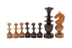 As partes de xadrez no fundo branco Fotos de Stock