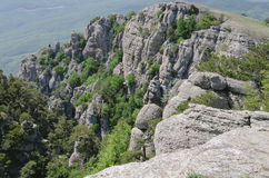 As partes superiores das montanhas Imagens de Stock