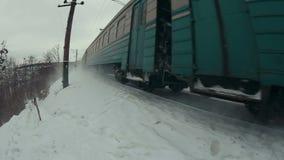 As passagens do trem perto video estoque
