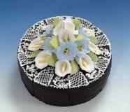 As pastelarias, bolo de chocolate Imagens de Stock Royalty Free