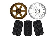 As peças do carro do equipamento da roda de TE37 max propelem Fotos de Stock Royalty Free