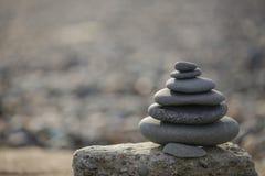 As pedras da praia repetidamente Fotos de Stock Royalty Free