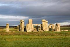 as pedras de Stonehenge, um monumento pr?-hist?rico em Wiltshire, Inglaterra Patrim?nio mundial do Unesco foto de stock