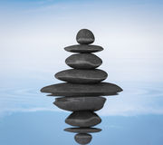 O zen apedreja o conceito do equilíbrio Fotografia de Stock Royalty Free