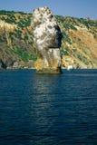As pedras enormes aproximam o cabo de Fiolent Fotos de Stock Royalty Free