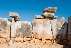 As pedras lisas pediram para construir uma casa pré-histórica na ilha de Menorca imagem de stock royalty free