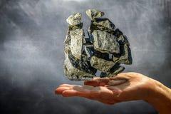 As pedras pegaradas psíquicos com o poder do pensamento Imagem de Stock