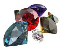 As pedras preciosas 3d rendem Imagem de Stock
