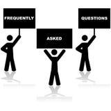 As perguntas frequentemente feitas fizeram frequentemente perguntas ilustração royalty free