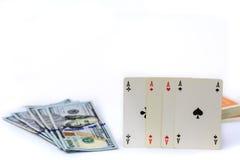 as pieniądze cztery Zdjęcie Royalty Free