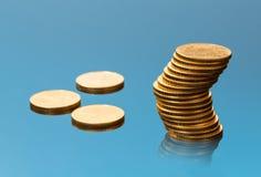 Coleção de moedas de um ouro da onça Foto de Stock Royalty Free