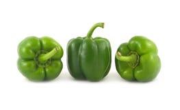 As pimentas de Bell verdes fecham-se acima Fotografia de Stock