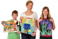 As pinturas das crianças foto de stock royalty free