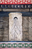 As pinturas no templo Wat Pho ensinam Fotografia de Stock