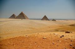 As pirâmides egípcias Foto de Stock