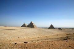 As pirâmides em Egipto. Imagens de Stock Royalty Free