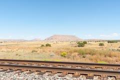 As planícies altas de New mexico ajardinam ao lado de Route 66 Fotos de Stock