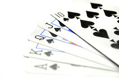 As, Playing cards Stock Images