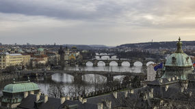 As pontes de Praga Fotografia de Stock Royalty Free